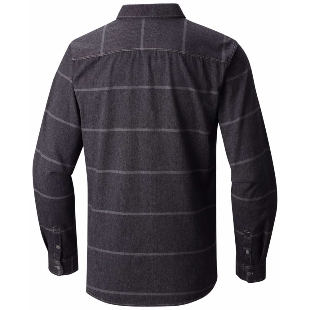 MOUNTAIN HARDWEAR Men's Frequenter Stripe Long-Sleeve Shirt - 090-BLACK