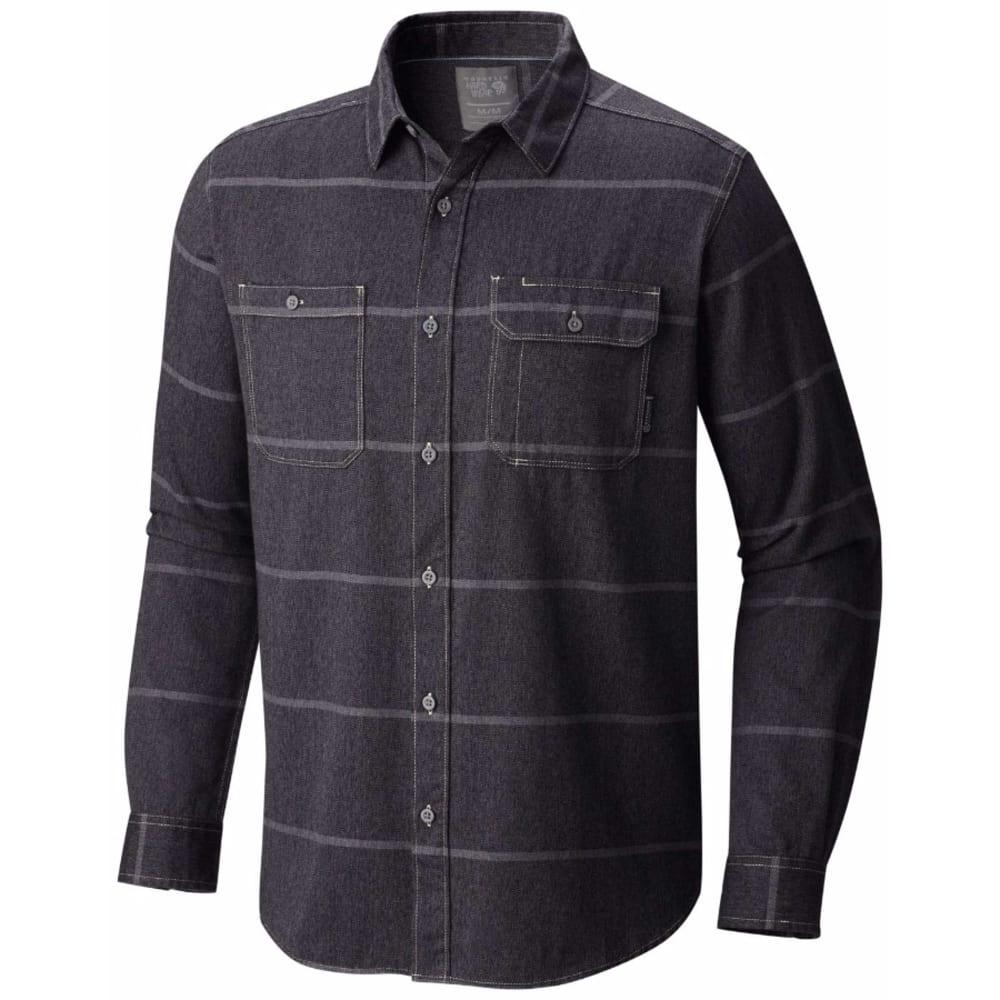 MOUNTAIN HARDWEAR Men's Frequenter Stripe Long-Sleeve Shirt - 090-BLACK