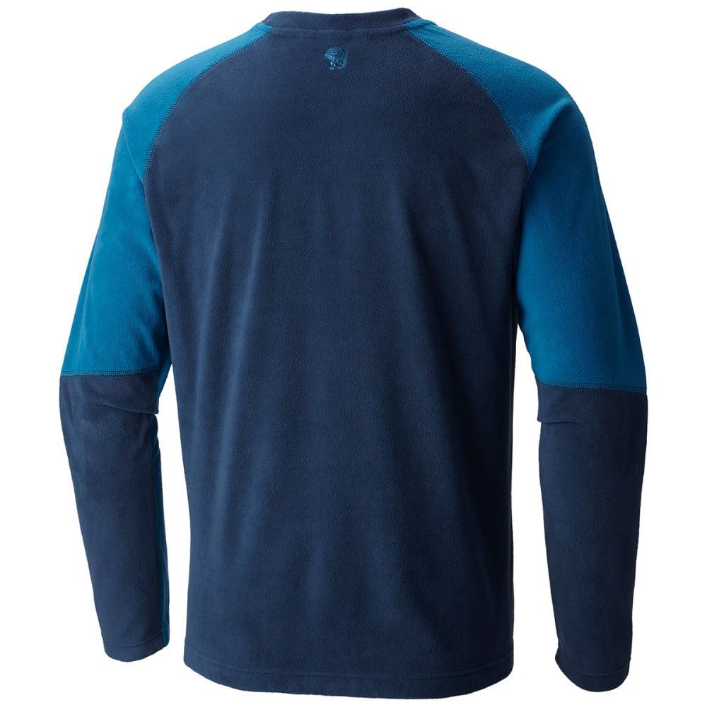 MOUNTAIN HARDWEAR Men's Microchill Lite Crewneck Long-Sleeve Shirt - 425-HARDWEAR NVY