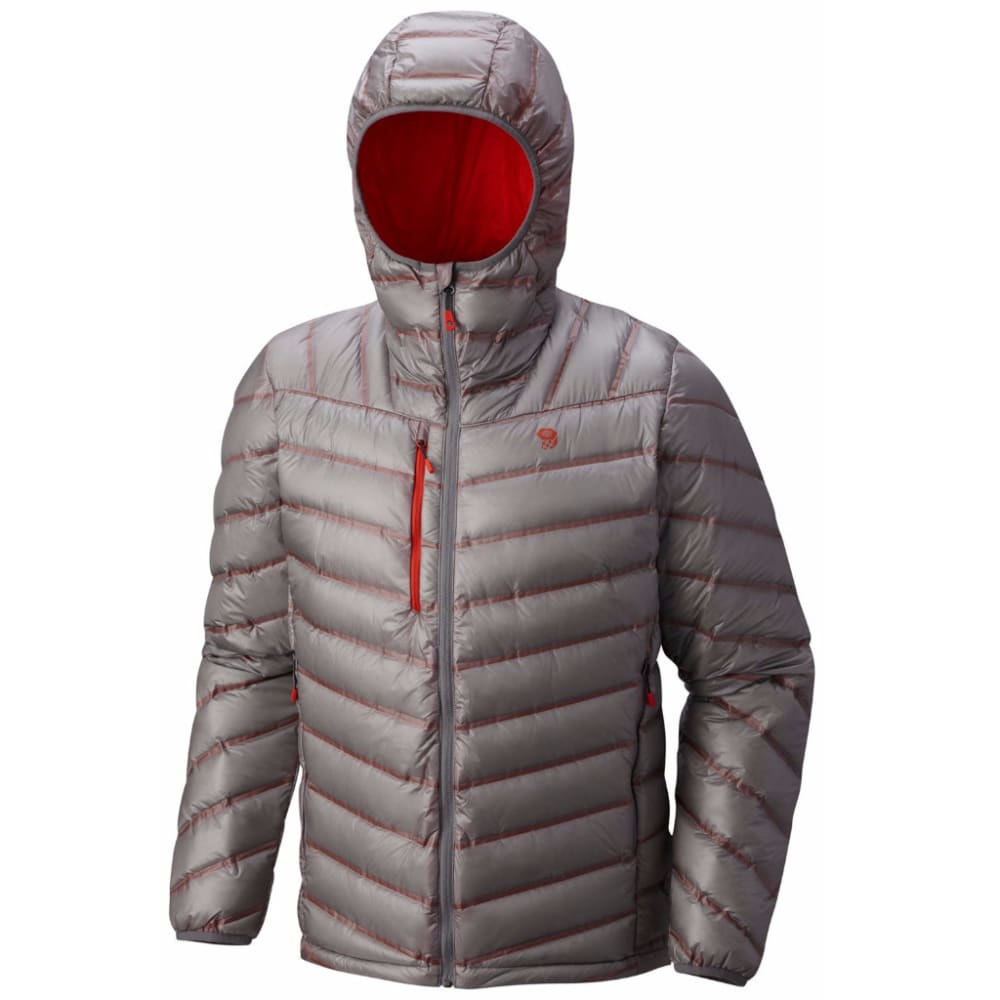 MOUNTAIN HARDWEAR Men's StretchDown RS Hooded Jacket - 073-MANTA GREY