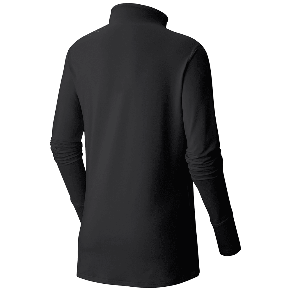 MOUNTAIN HARDWEAR Women's Butterlicious T-Neck Shirt - 090-BLACK