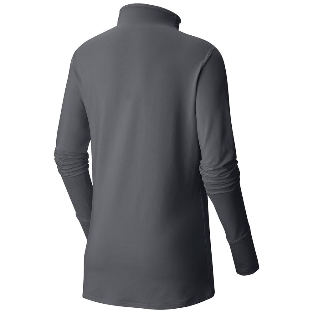MOUNTAIN HARDWEAR Women's Butterlicious T-Neck Shirt - 053-GRAPHITE