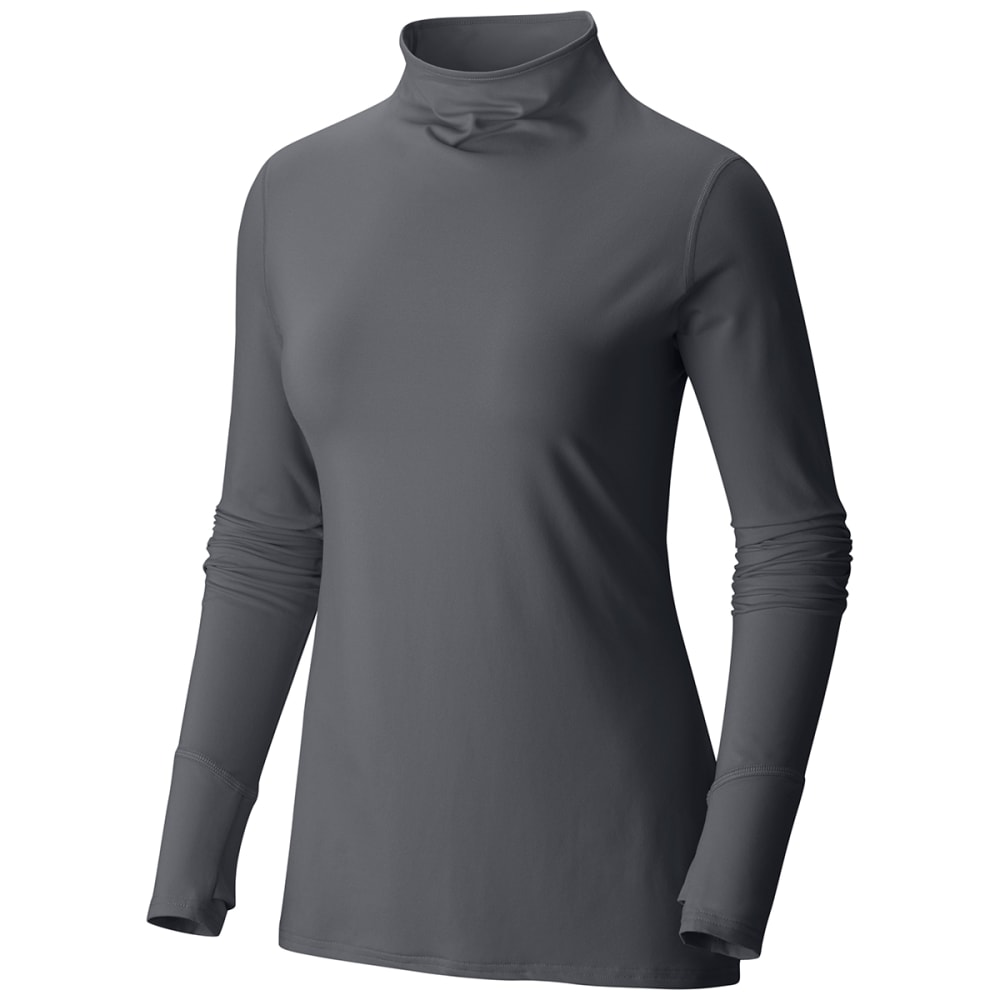 MOUNTAIN HARDWEAR Women's Butterlicious T-Neck Shirt - 053-GRAPHITE