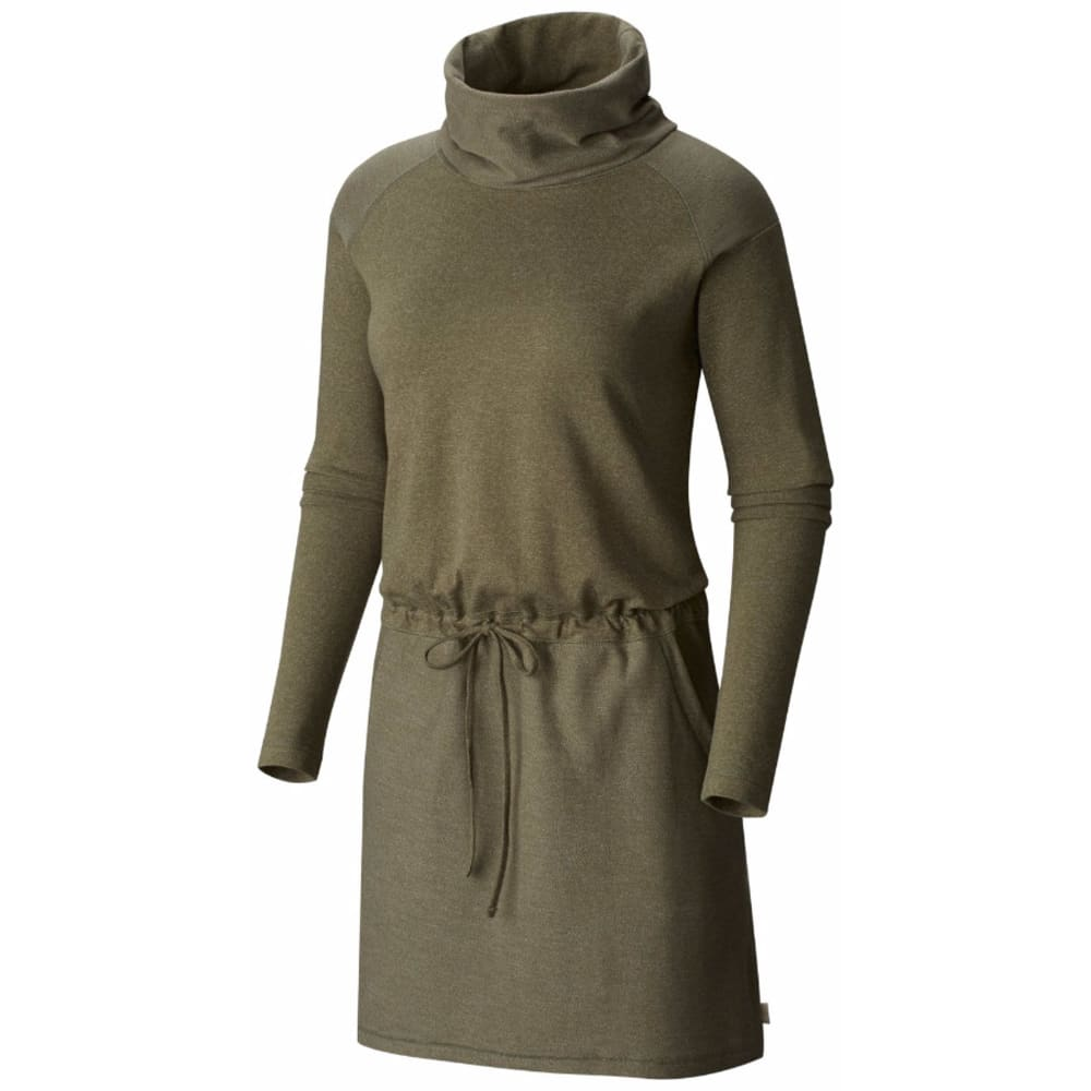 MOUNTAIN HARDWEAR Women's Shadow Knit Long-Sleeve Dress - 397-STONE GREEN