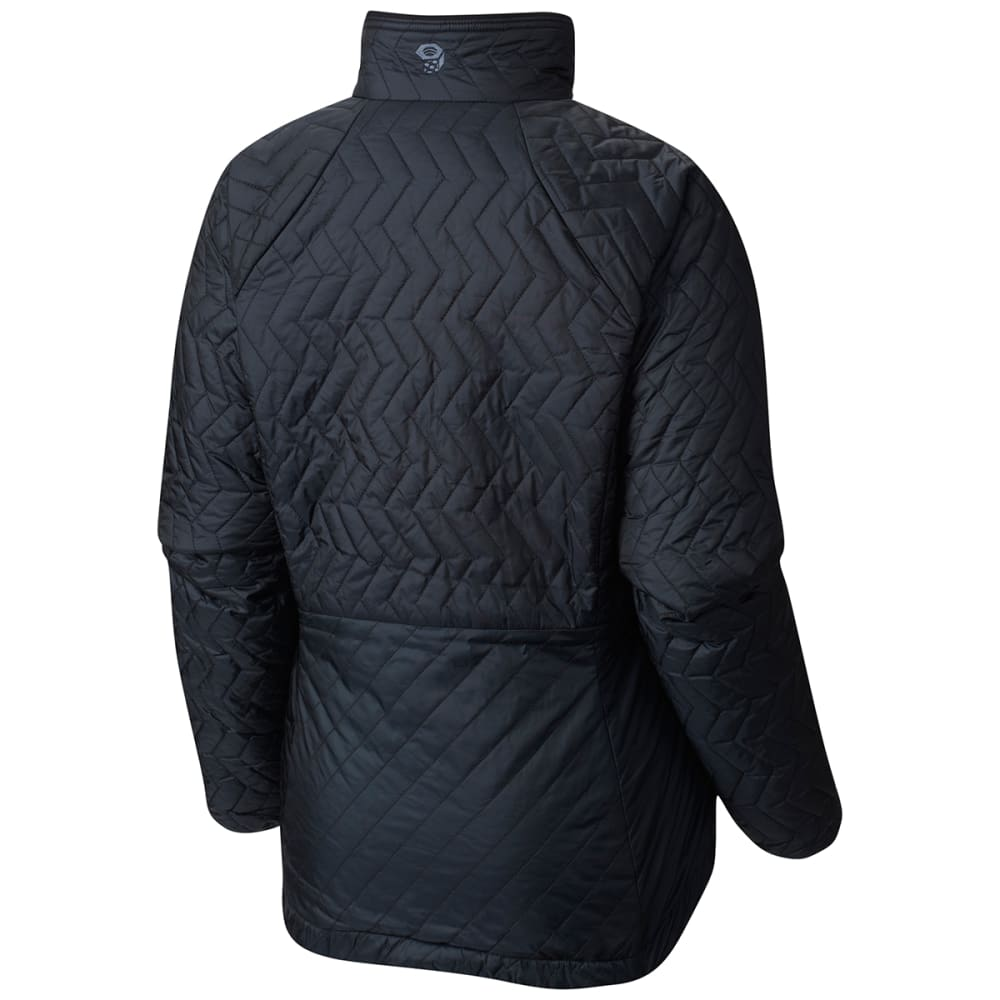 MOUNTAIN HARDWEAR Women's Switch Flip Jacket - 095-BLACK & GRAPHITE