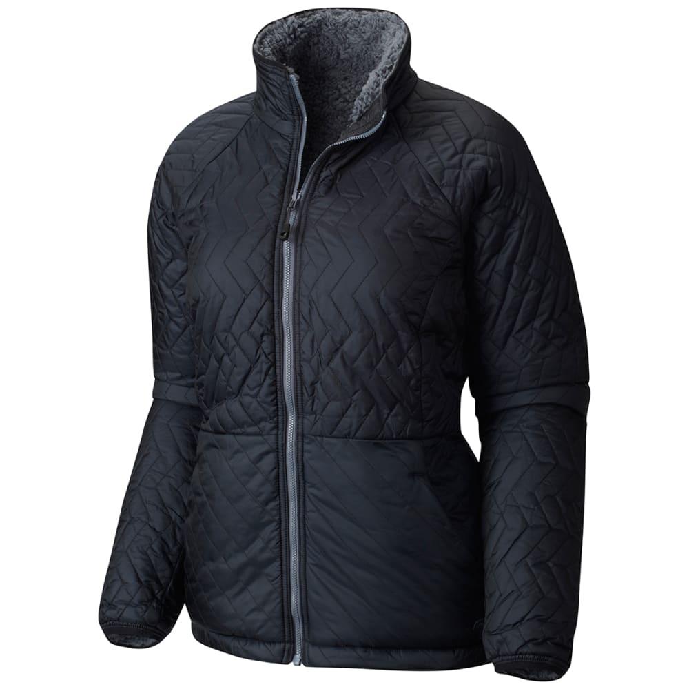 MOUNTAIN HARDWEAR Women's Switch Flip Jacket - 095-BLACK & GRAPHITE