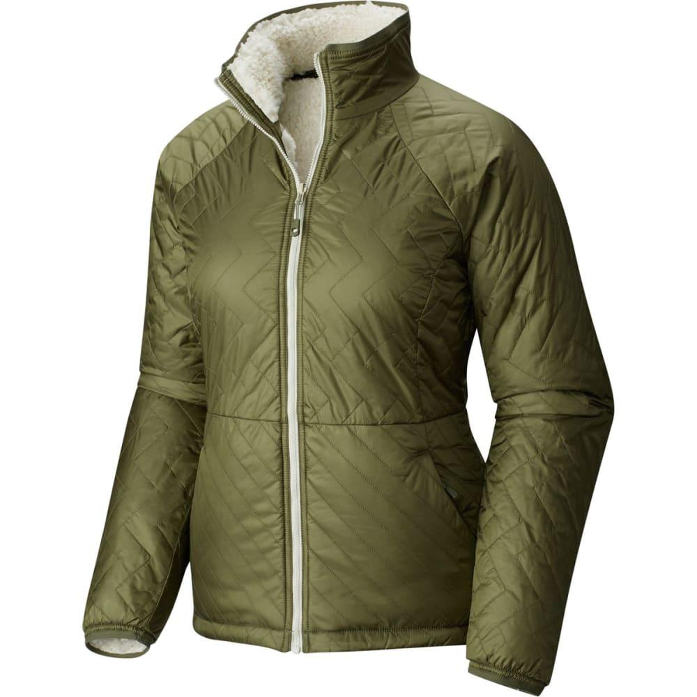 MOUNTAIN HARDWEAR Women's Switch Flip Jacket - 397-STONE GRN & STON