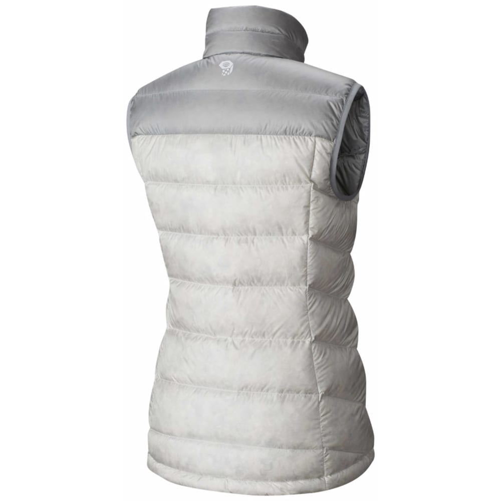 MOUNTAIN HARDWEAR Women's Ratio Down Vest - 105-WHITE & STEAM