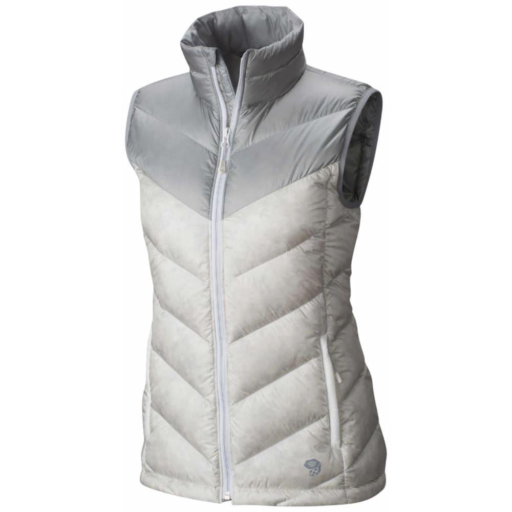 MOUNTAIN HARDWEAR Women's Ratio Down Vest - 105-WHITE & STEAM