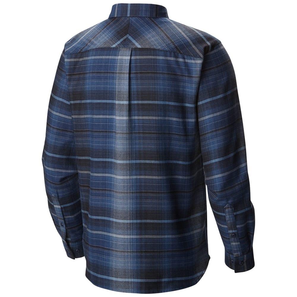 COLUMBIA Men's Silver Ridge Flannel Long-Sleeve Shirt - COLLEGIATE NAVY-464