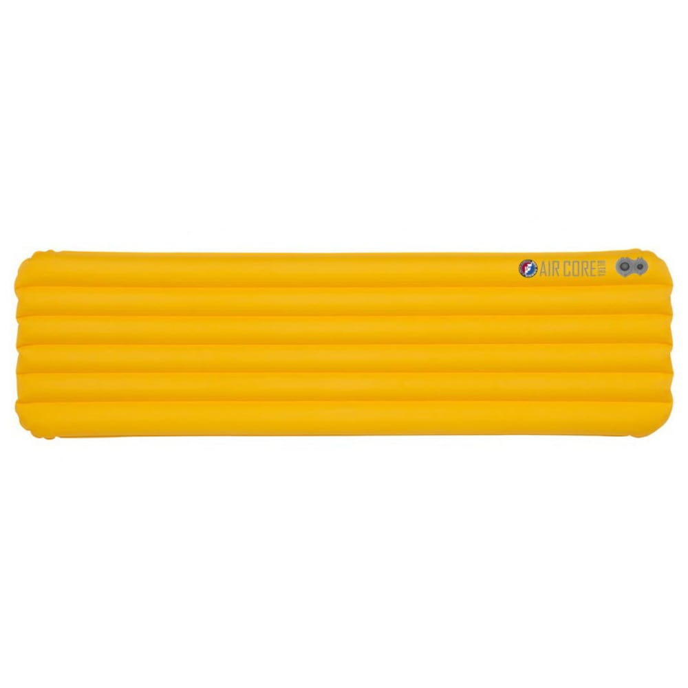 BIG AGNES Air Core Ultra Sleeping Pad, Long - YELLOW