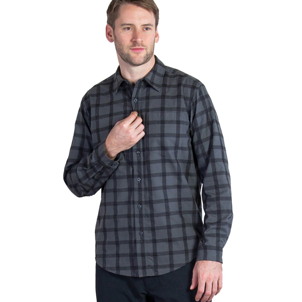 EX OFFICIO Men's Calator Plaid Long-Sleeve Shirt - 9999-BLACK