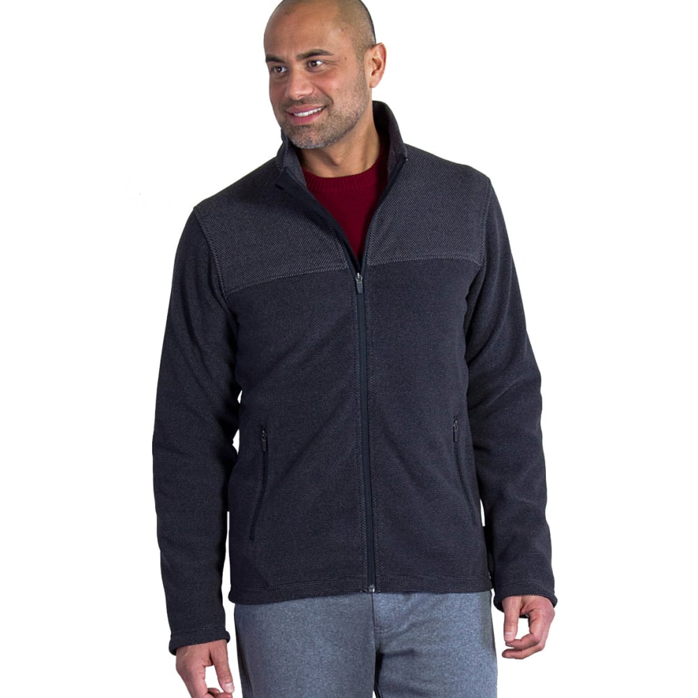 EX OFFICIO Men's Vergio Full-Zip Fleece - 9999-BLACK