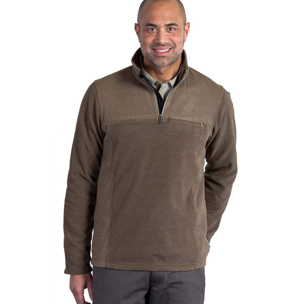 EX OFFICIO Men's Vergio  ¼-Zip Fleece - 8325-WALNUT