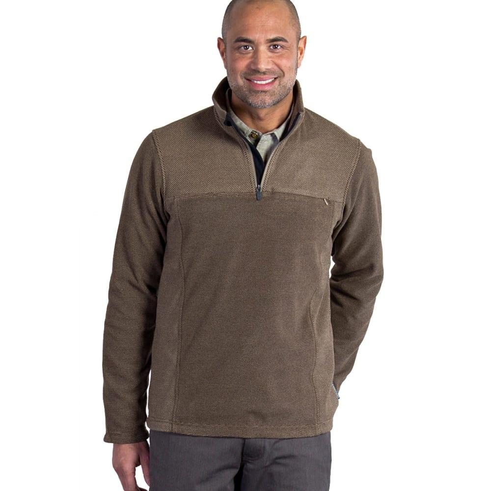 EX OFFICIO Men's Vergio 1/4 Zip Fleece - 8325-WALNUT