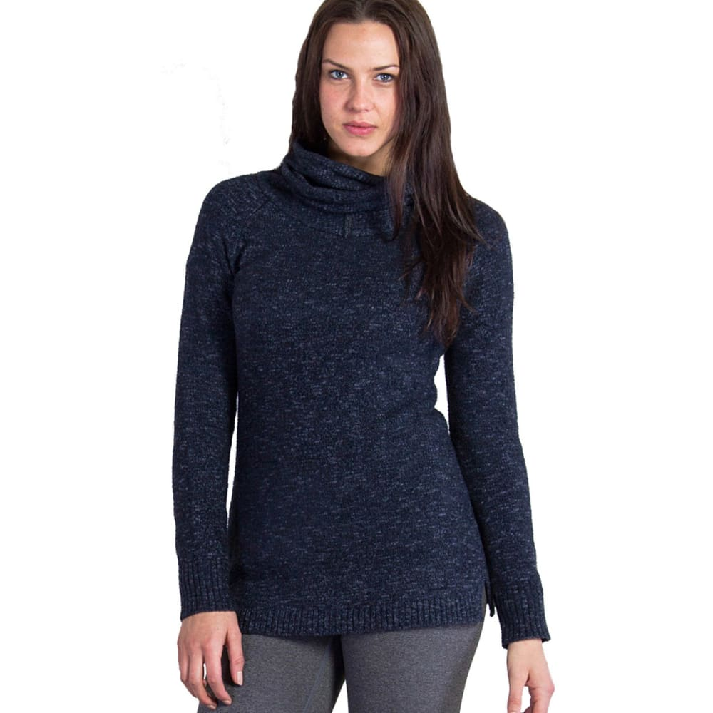 EX OFFICIO Women's Lorelei Infinity Cowl Neck Sweater - 9964-BLACK HEATHER