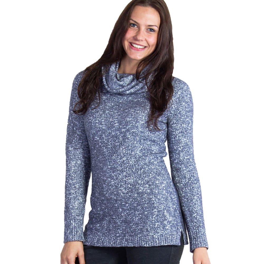 EX OFFICIO Women's Lorelei Infinity Cowl Neck Sweater - 9702-CARBON HEATHER