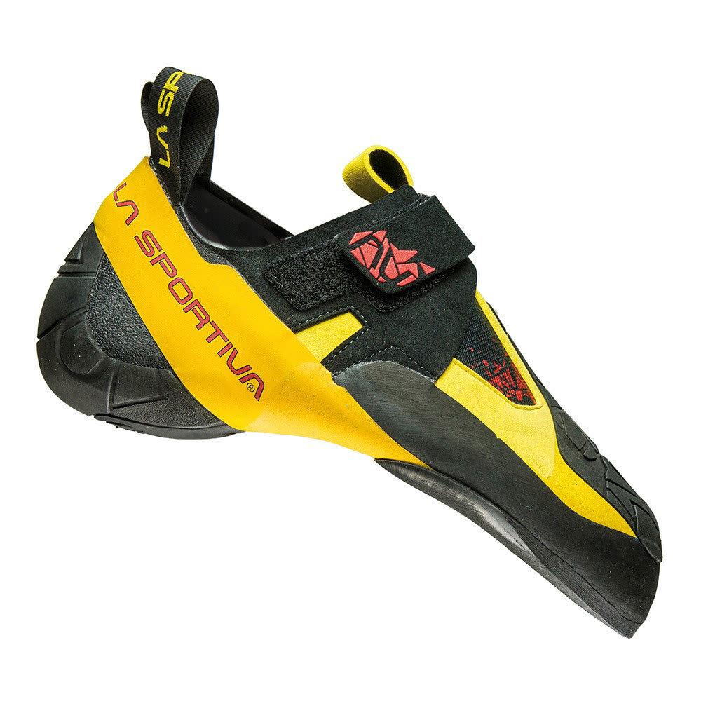 LA SPORTIVA Skwama Climbing Shoes - BLACK/YELLOW