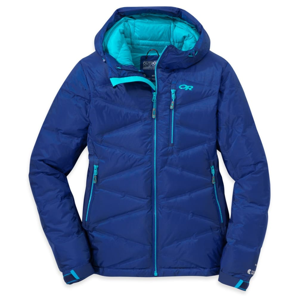 OUTDOOR RESEARCH Women's Floodlight Down Jacket - BALTIC/TYPHOON