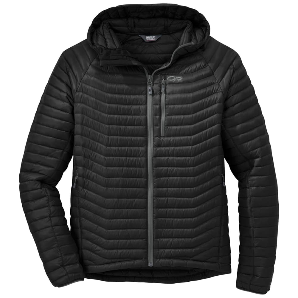 OUTDOOR RESEARCH Men's Verismo Hooded Down Jacket - 0001-BLACK