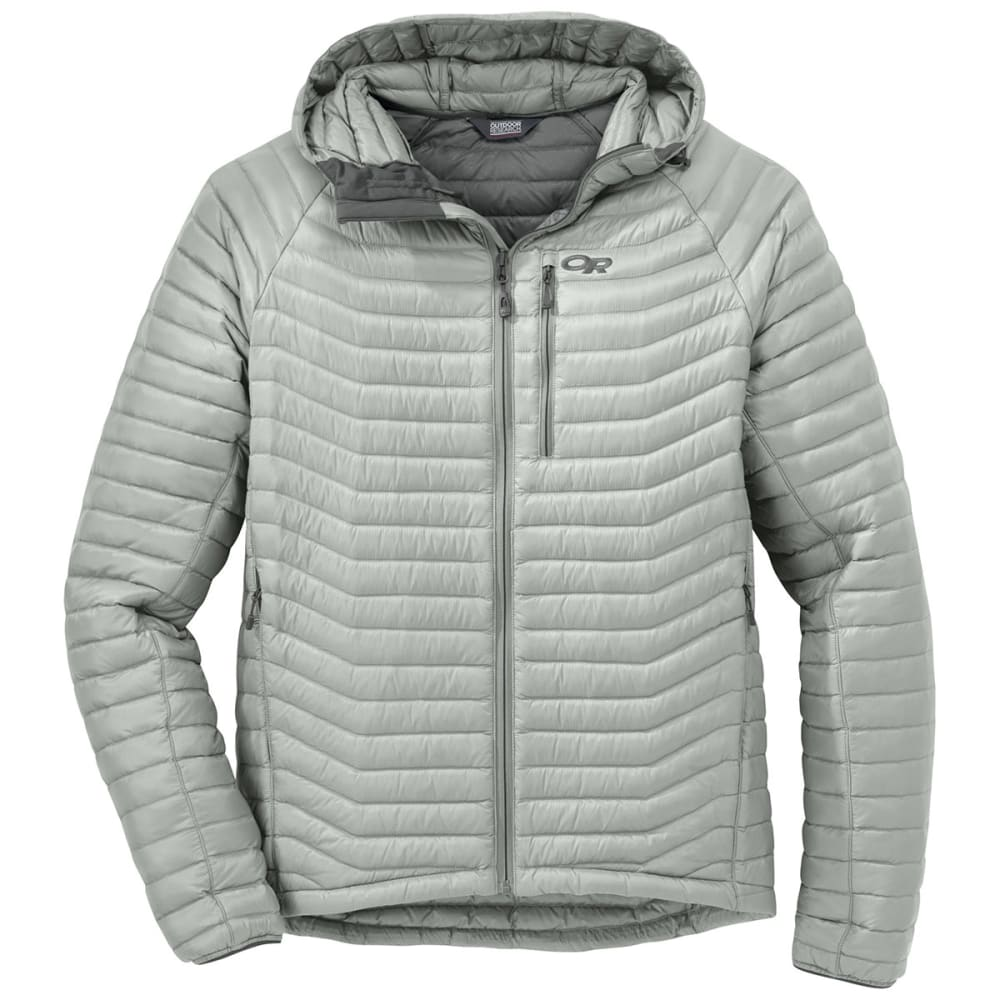 OUTDOOR RESEARCH Men's Verismo Hooded Down Jacket - ALLOY