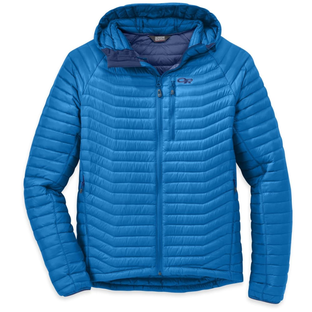 OUTDOOR RESEARCH Men's Verismo Hooded Down Jacket - GLACIER