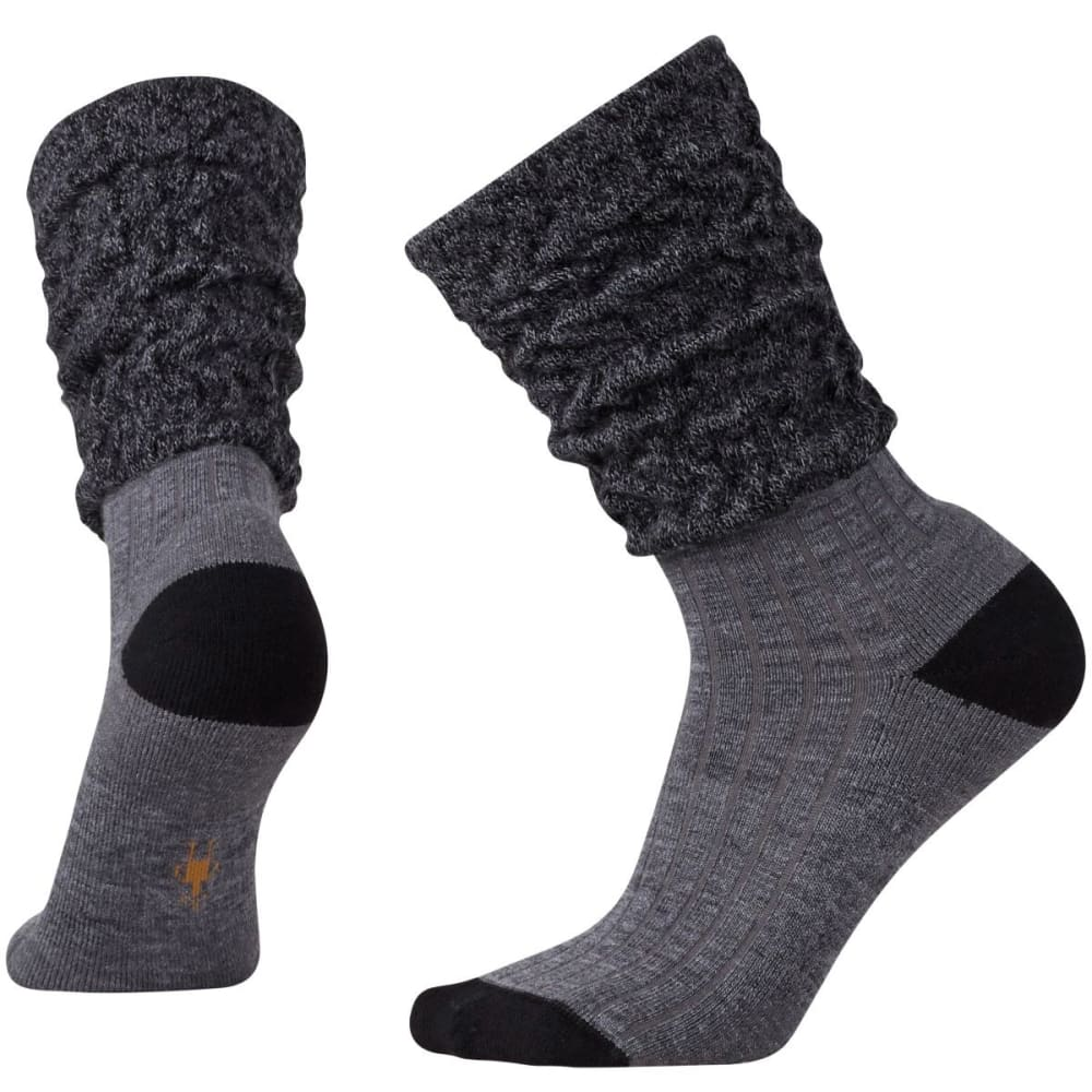 SMARTWOOL Women's Short Boot Slouch Socks - MED GRAY HTR-052