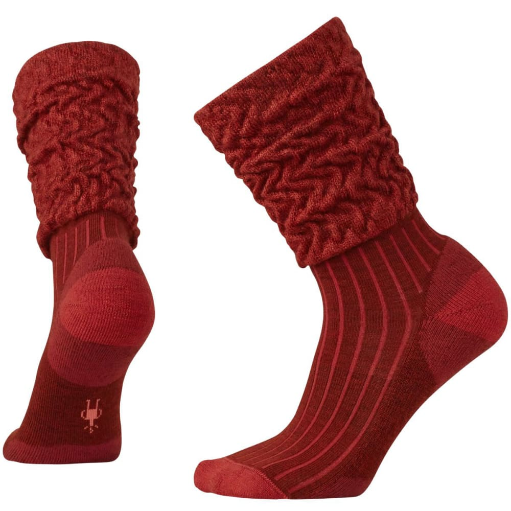 SMARTWOOL Women's Short Boot Slouch Socks - CINNAMON HTR-695