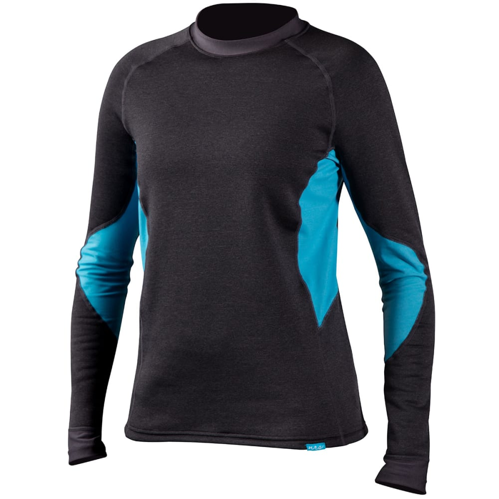 NRS Women's H2Core Expedition Weight Shirt - CHARCOAL HEATHER