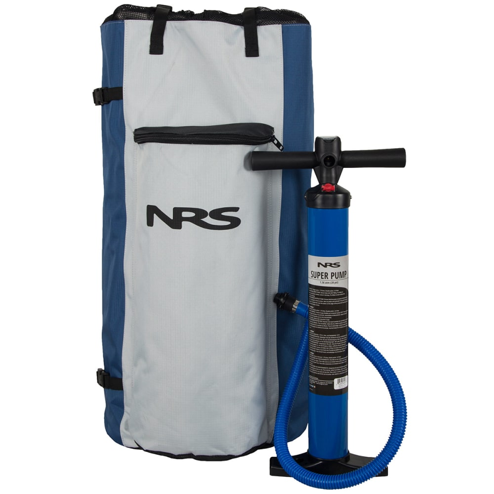NRS Baron 4 Inflatable Standup Paddleboard - GREY/GREEN/BLUE