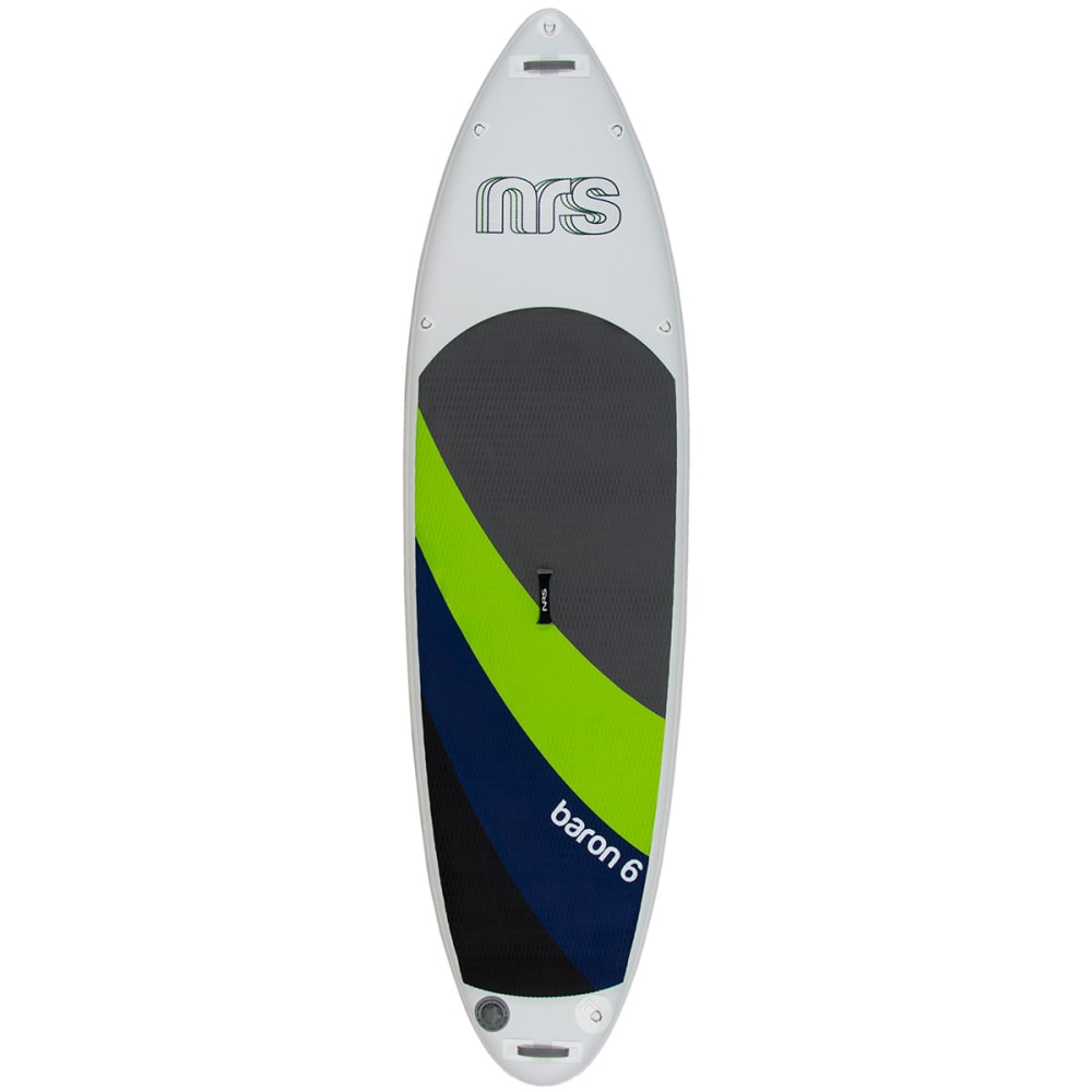 NRS Baron 6 Inflatable Standup Paddleboard - GRAY/GREEN/BLUE