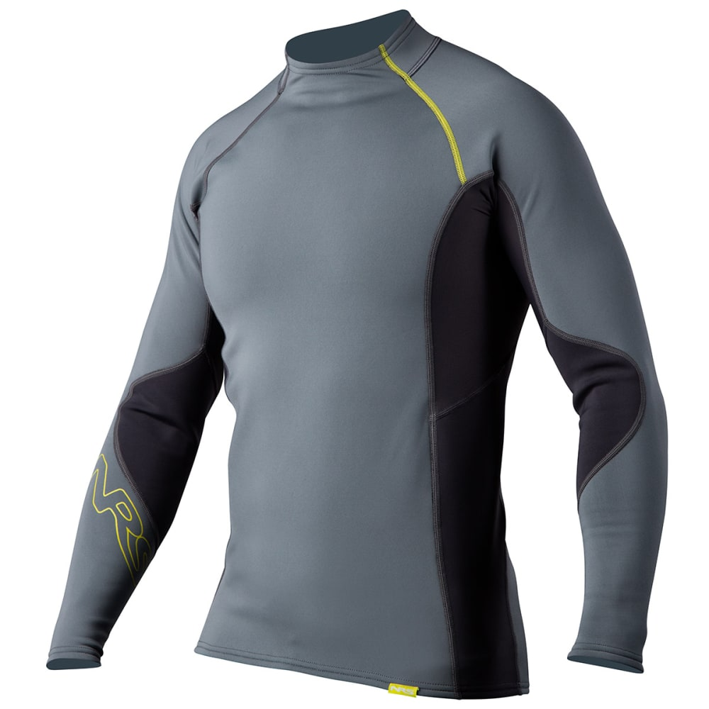 NRS Men's HydroSkin 0.5 Long-Sleeve Shirt - ASH GRAY