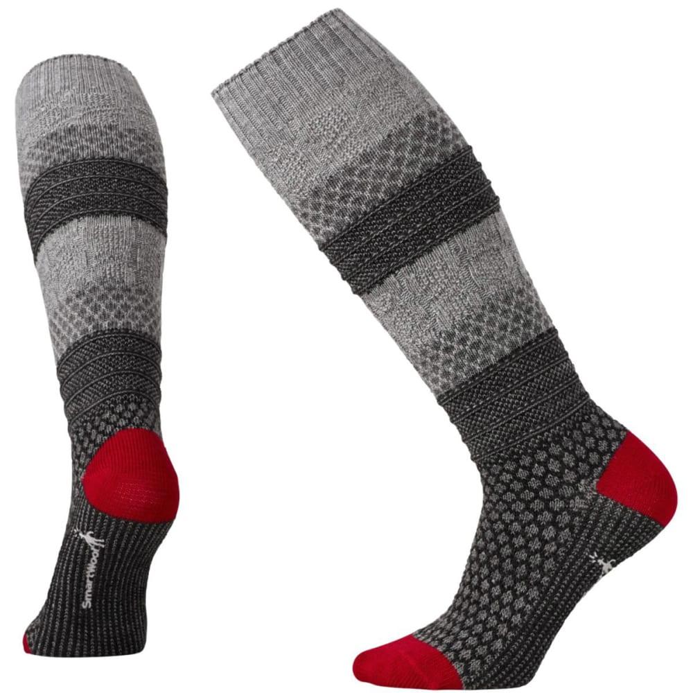 SMARTWOOL Women's Popcorn Cable Knee-High Socks - MED GRAY-052