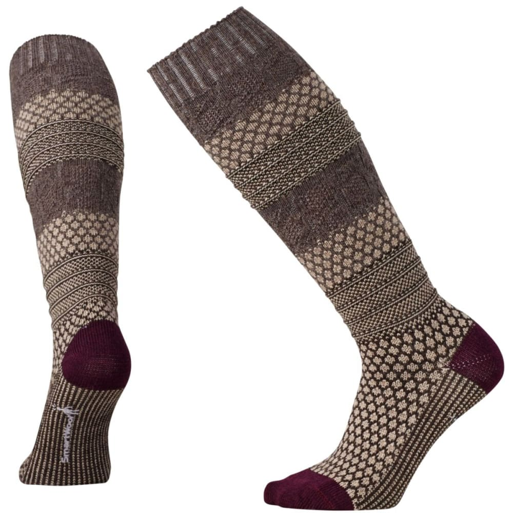 SMARTWOOL Women's Popcorn Cable Knee-High Socks - OATMEAL HEATHER-277