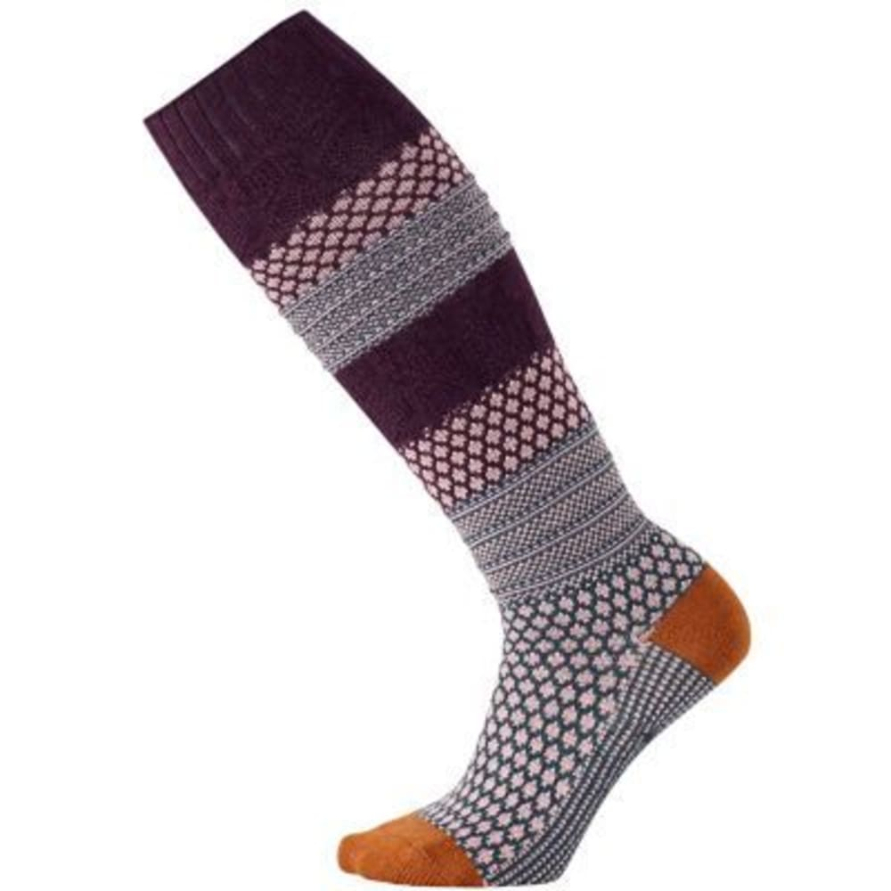 SMARTWOOL Women's Popcorn Cable Knee-High Socks - BORDEAUX HEA 587