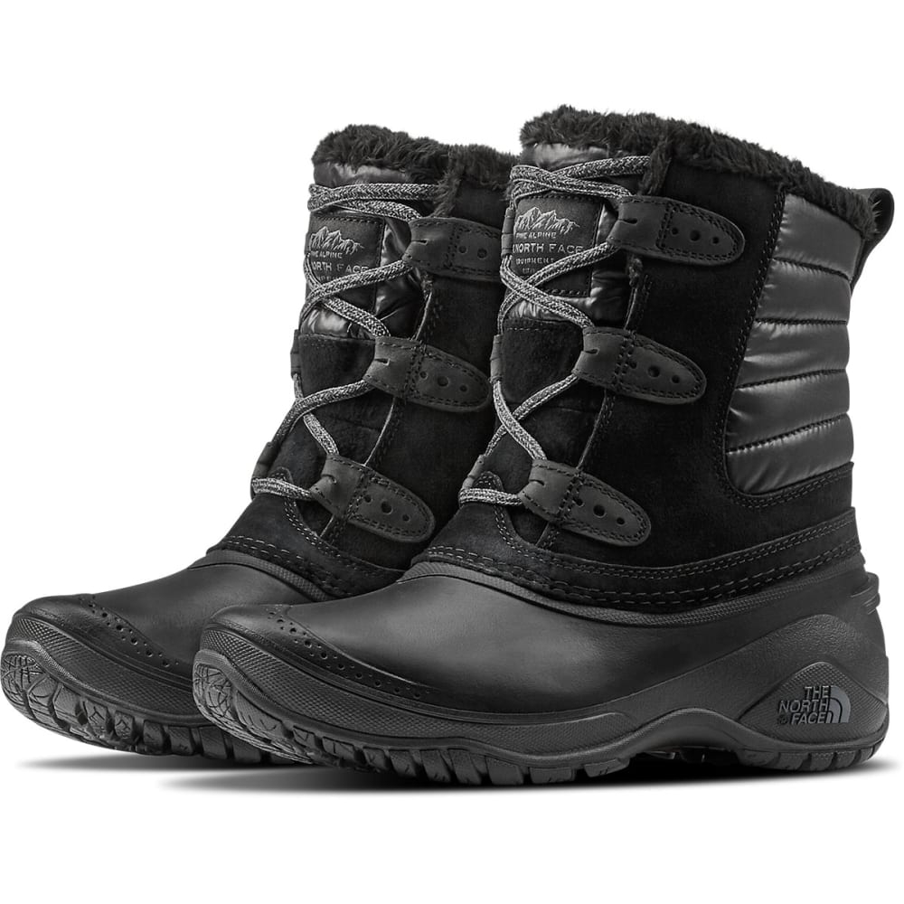 THE NORTH FACE Women's Shellista II Shorty Insulated Waterproof Winter Boots, Dark Gull Grey/Cloud Grey - BLACK PEARL-NNE