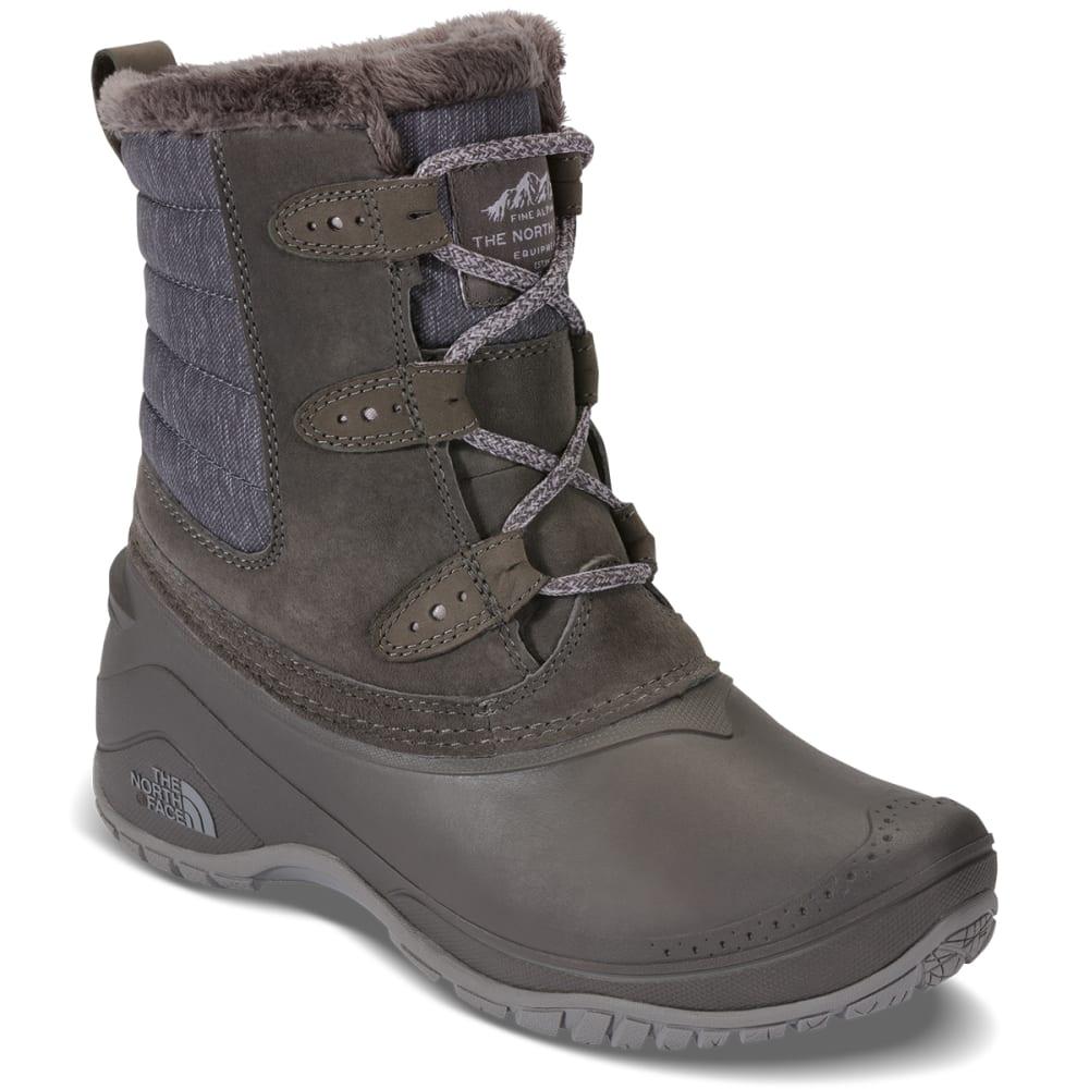 THE NORTH FACE Women's Shellista II Shorty Insulated Waterproof Winter Boots, Dark Gull Grey/Cloud Grey 6