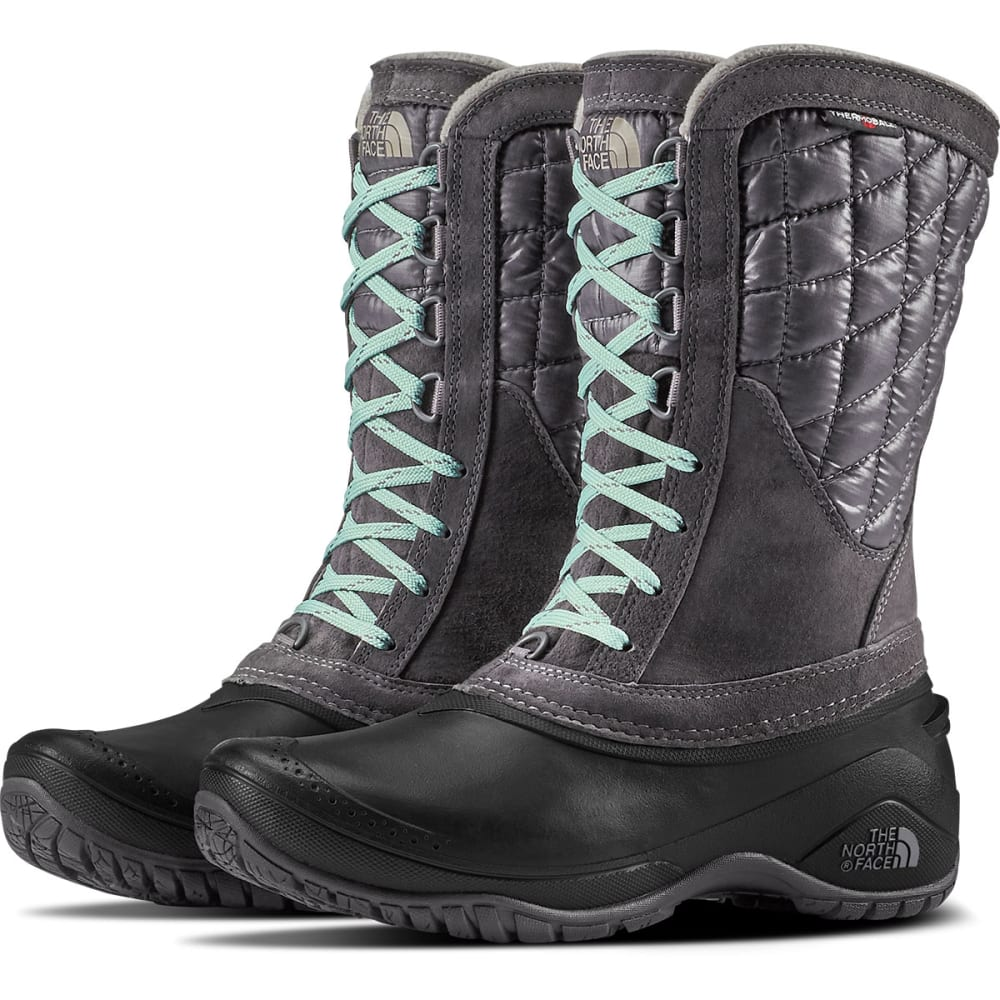 THE NORTH FACE Women's Thermoball Utility Mid Boots, Black - BK PEARL/TNF BLK-5QN