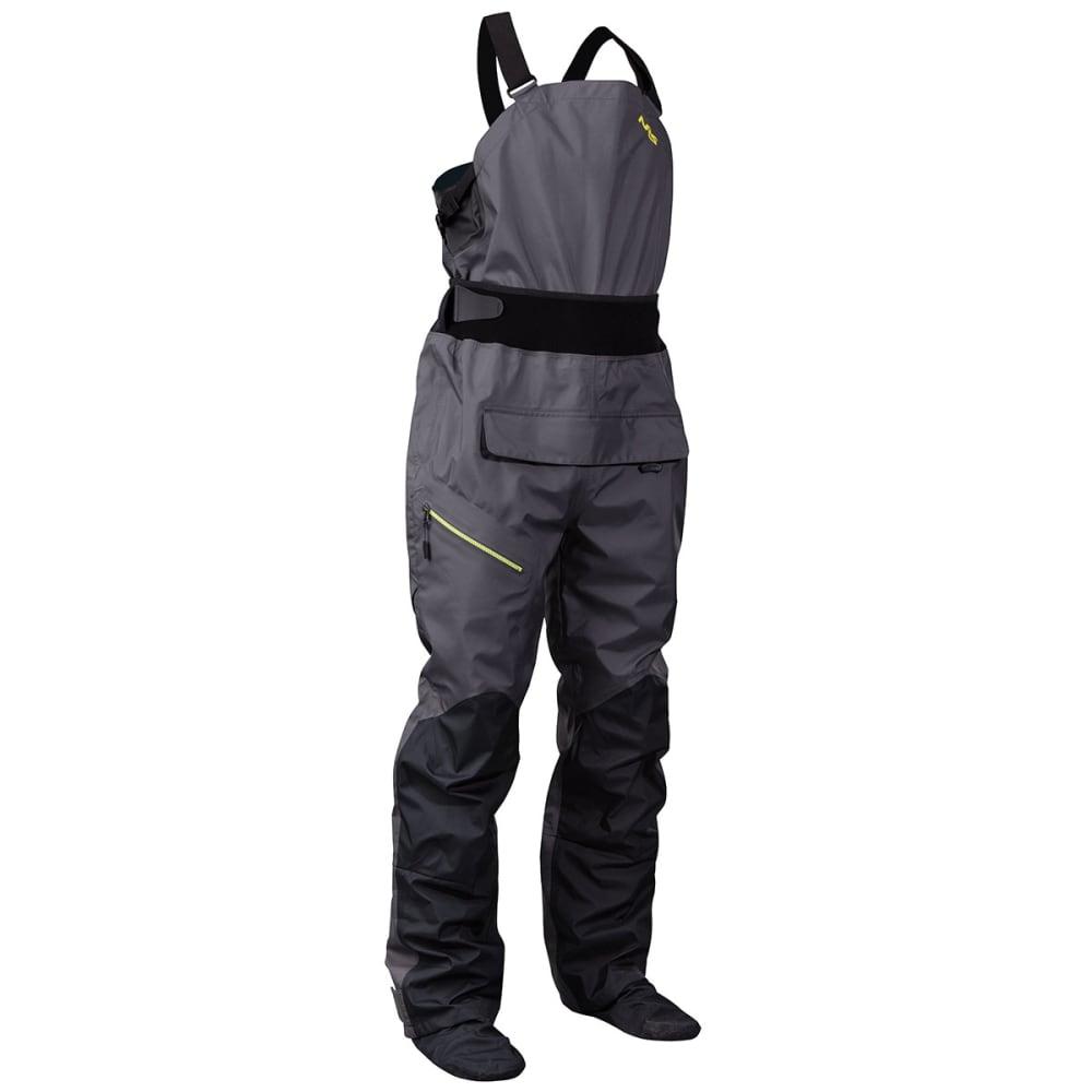 NRS Men's Sidewinder Bib Dry Pants - GUNMETAL