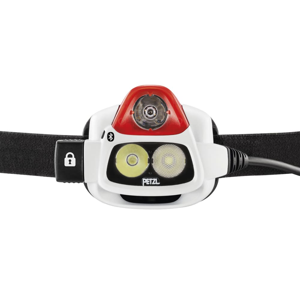 PETZL NAO+ Performance Headlamp with Bluetooth Technology - RED/WHITE E36AHR 2B