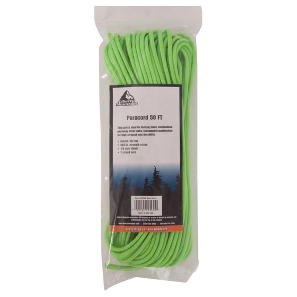 LIBERTY MOUNTAIN SPORTS Paracord 50' - NO COLOR