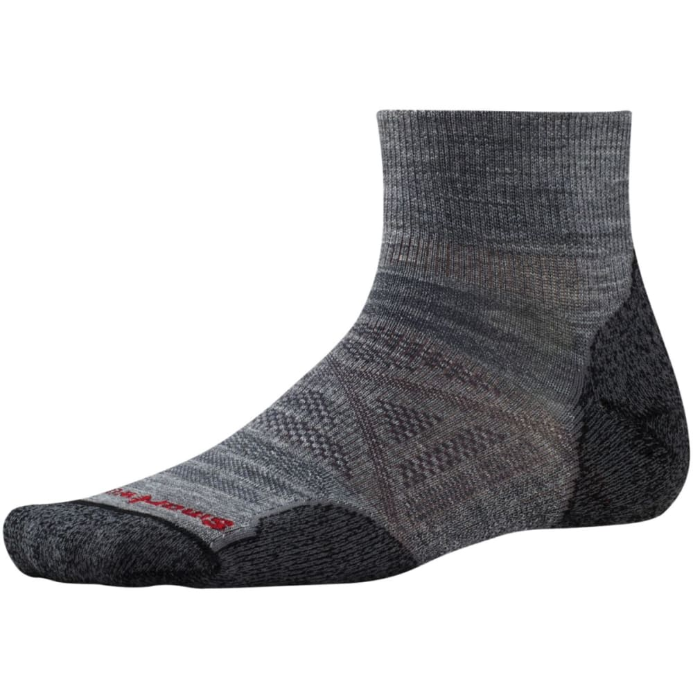SMARTWOOL Men's PhD Outdoor Light Mini Socks - MED GREY-052