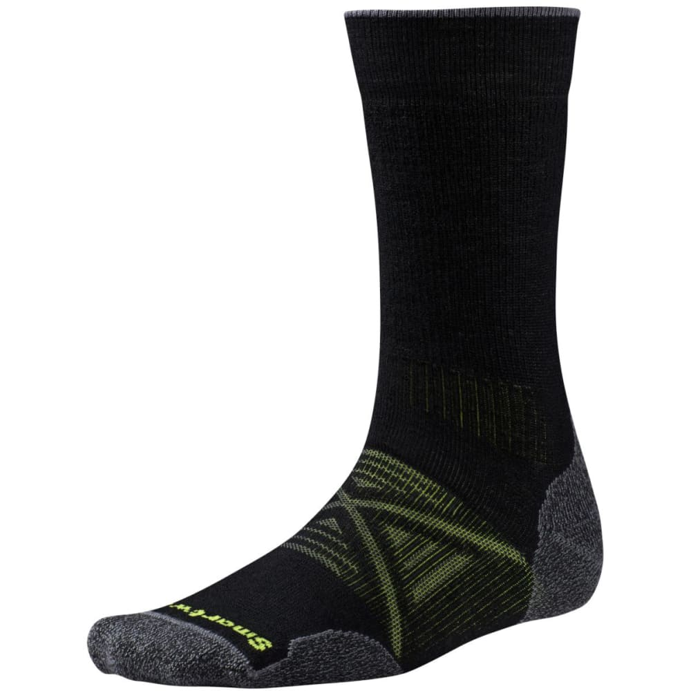 SMARTWOOL Men's PhD Outdoor Medium Crew Socks - BLACK-001