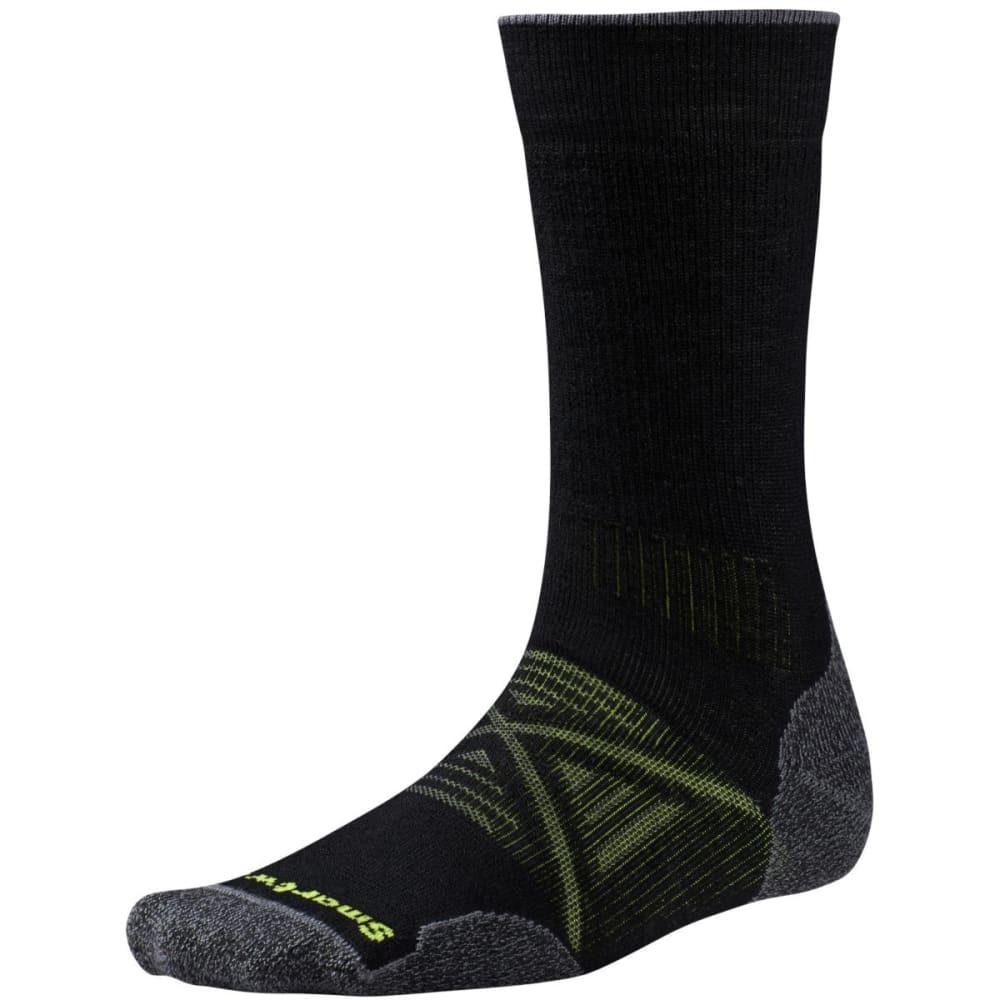 SMARTWOOL Men's PhD Outdoor Medium Crew Socks - BLACK-001