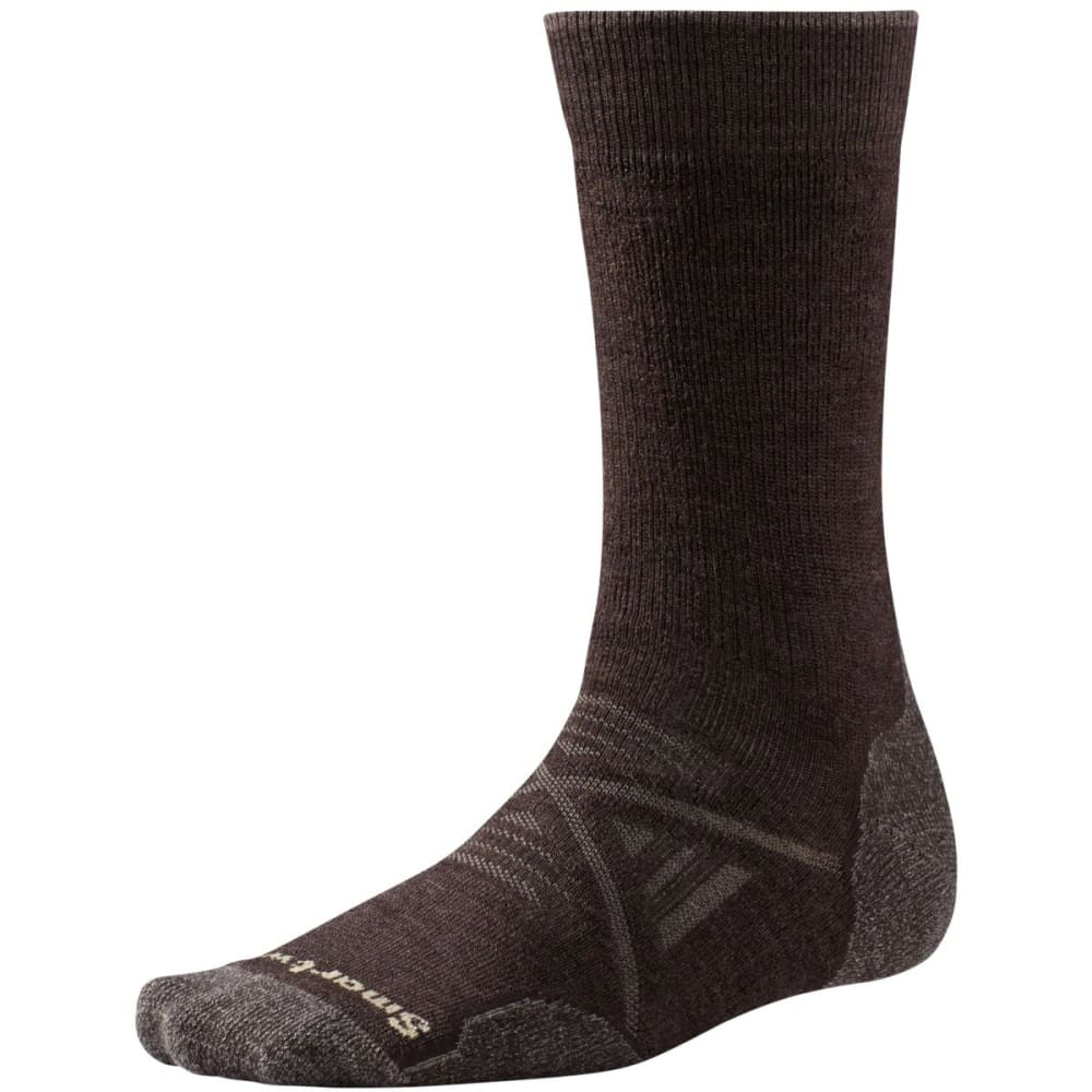 SMARTWOOL Men's PhD Outdoor Medium Crew Socks - CHESTNUT-207