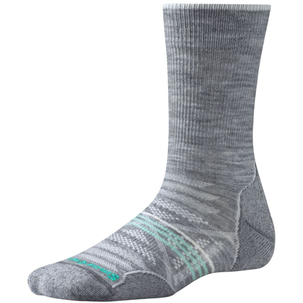 SMARTWOOL Women's PhD Outdoor Light Crew Socks - LIGHT GREY-039