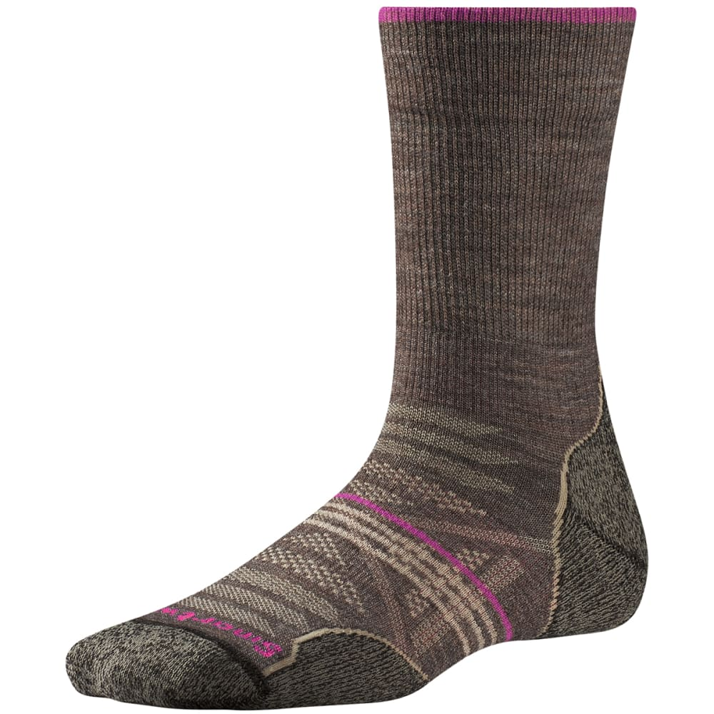 SMARTWOOL Women's PhD Outdoor Light Crew Socks - TAUPE 236