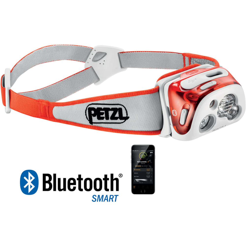 PETZL REACTIK+ Headlamp - ORANGE E95 HMI