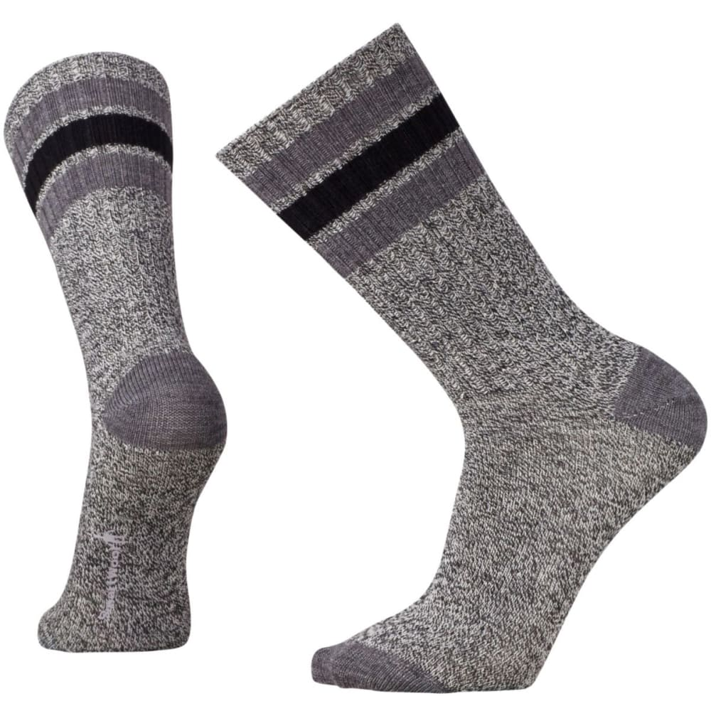SMARTWOOL Men's Thunder Creek Crew Socks - CHARCOAL HTR- 835