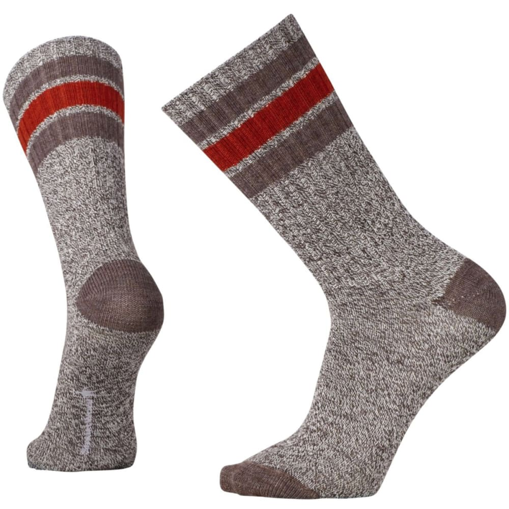 SMARTWOOL Men's Thunder Creek Crew Socks - CHESTNUT HTR/CIN-225
